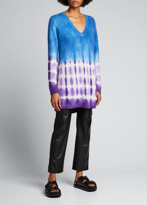 The Elder Statesman Tie-Dye Long Sweater