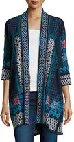 Johnny Was Tansy Duster Embroidered Cardigan, Plus Size