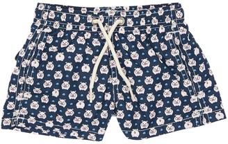 MC2 Saint Barth Pig Print Nylon Swim Shorts