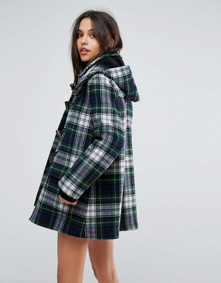 Gloverall Exclusive Check Duffle In Dress Gordan Tartan
