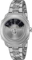Versace Women's VQU030015 Dylos Icon Analog Display Swiss Quartz Silver Watch