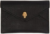 Alexander McQueen Black & Gold Skull Envelope Card Holder