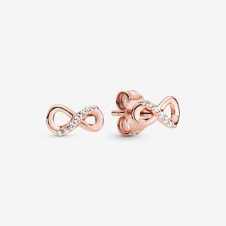 Pandora Sparkling Infinity Stud Earrings