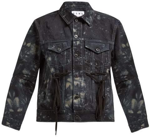 Proenza Schouler Pswl - Tie Dye Panelled Denim Jacket - Womens - Black Multi