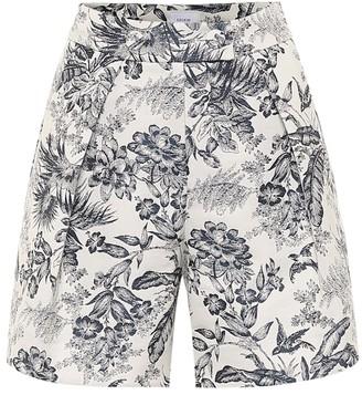 Erdem Howard high-rise cotton-blend shorts