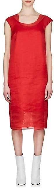 Maison Margiela Women's Layered Silk Shift Dress - Red
