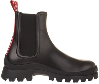 DSQUARED2 Black Man Ankle Boot With Red Logoed Tape