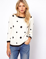 Oasis Boxy Sweater In Spot Print