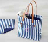 Pottery Barn Kids Mason Slouchy Tote- Stripe Navy