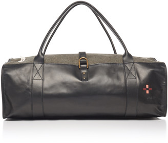 Nick Fouquet Hand-Painted Leather And Canvas Duffel Bag