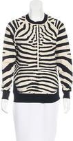 A.L.C. Zebra Patterned Rib Knit Sweater