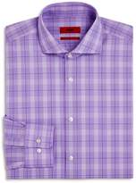 HUGO Plaid Regular Fit Dress Shirt