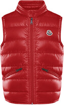 Moncler Boy's Gui Quilted Down Vest, Size 4-6