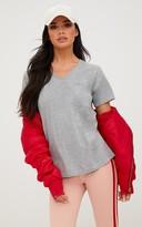 PrettyLittleThing Grey Basic V Neck Pocket T Shirt