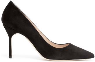 Manolo Blahnik BB 90 black suede pumps