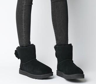 UGG Star Bow Mini Boots Black