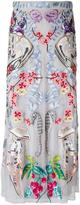 Temperley London embroidered tulle skirt