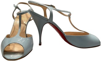 Christian Louboutin Blue Patent leather Sandals