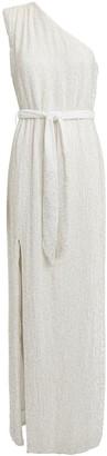 retrofete Vivien One-Shoulder Sequin Gown