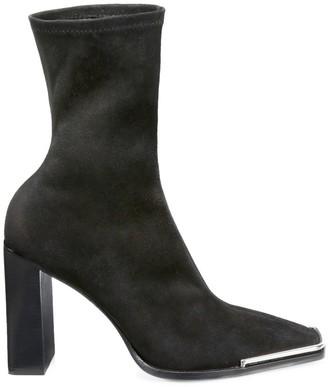 Alexander Wang Mascha Halo Stretch-Suede Sock Boots