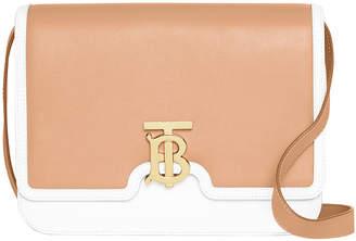 Burberry TB Medium Two-Tone Shoulder Bag