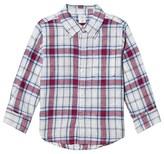 Gap Grey and Red Plaid Shirt