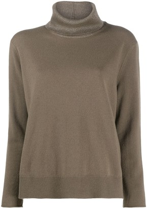 Fabiana Filippi Metallic Roll-Neck Sweater