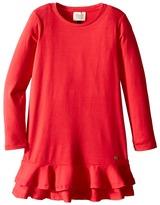 Armani Junior Jersey Dress with Ruffle Hem Girl's Dress