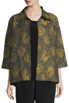 Caroline Rose Floral Interest Jacquard Jacket