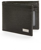 Salvatore Ferragamo Men's Stamped Calf Wallet - Black