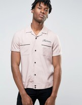 Asos Viscose Shirt With 13 Embroidered Back Design In Regular Fit