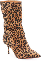 Aquazzura Very Boogie Leopard Booties