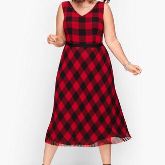 Talbots Buffalo Check Dress