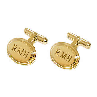 Asstd National Brand Personalized Stepped Oval Cuff Links