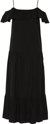 IRO Juliet Cold-shoulder Ruffle-trimmed Gauze Maxi Dress