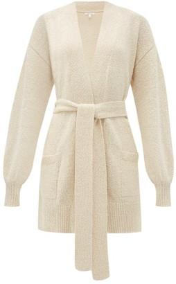 Skin Marlee Belted Organic Cotton-blend Cardigan - Ivory