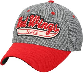 adidas Men's Gray/Red Detroit Red Wings Culture Two Tone Felt Structured Flex Hat