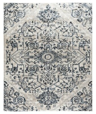Bungalow Rose Neely Medallion Gray Area Rug Rug Size: Rectangle 5' x 7'