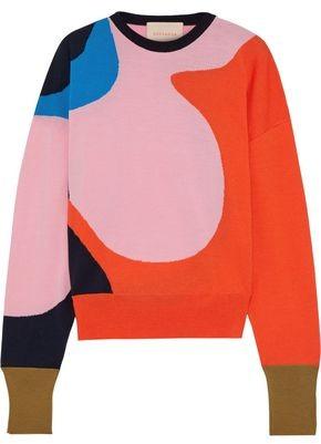 Roksanda Azura Intarsia Merino Wool Sweater