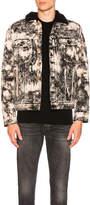 Balmain Marble Print Denim Jacket