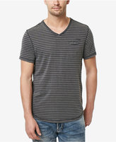Buffalo David Bitton Men's Kitom Stripe Cotton V-Neck T-Shirt