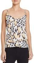 Equipment Layla Leopard Print Silk Cami