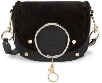 See by Chloe Mara Suede & Leather Crossbody Bag