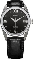 Jowissa Women's J4.053.M Monte Carlo Stainless Steel Black Dial Genuine Leather Automatic Date Watch