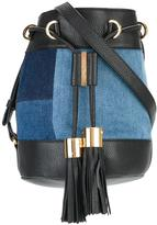 See by Chloe denim patchwork bucket shoulder bag - women - Cotton/Leather - One Size