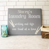 Cathy's Concepts CATHYS CONCEPTS Personalized Laundry Room Canvas