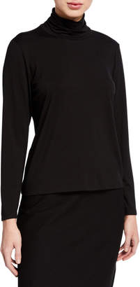 Eileen Fisher Petite Long-Sleeve Scrunch Turtleneck Top