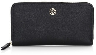 Tory Burch Robinson Zip-Around Leather Wallet