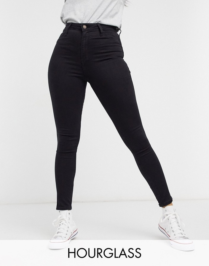 Hollister Skinny Hour Glass Jeans in Black