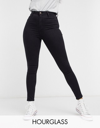 Hollister Hourglass skinny jeans in black